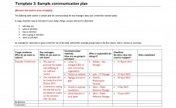 006 Impressive Communication Plan Template Excel Highest Clarity  Marketing Event