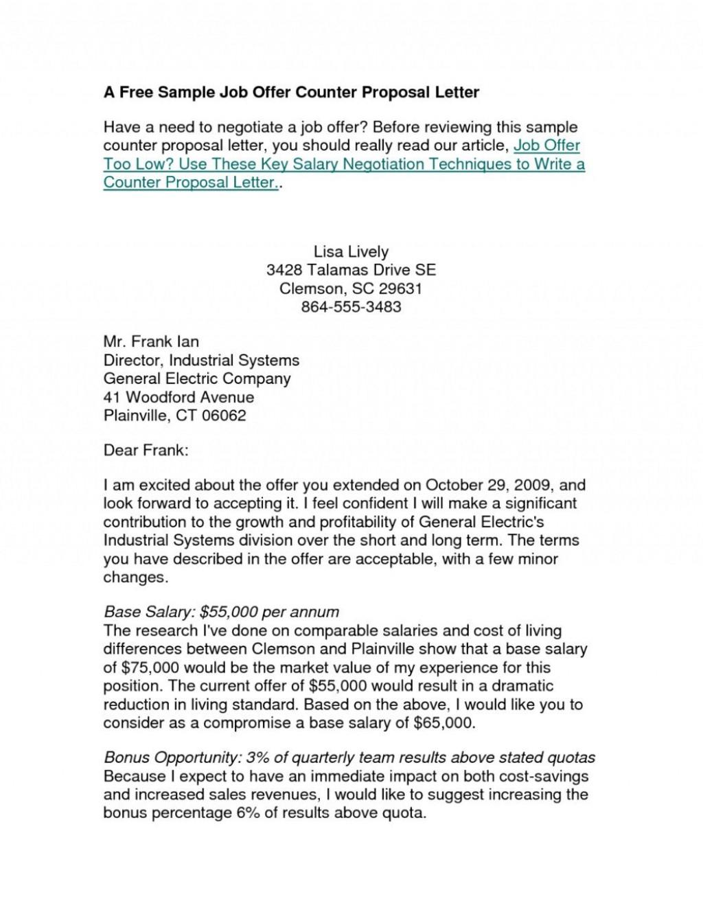 006 Impressive Counter Offer Letter Template Inspiration  Real Estate Settlement DebtLarge