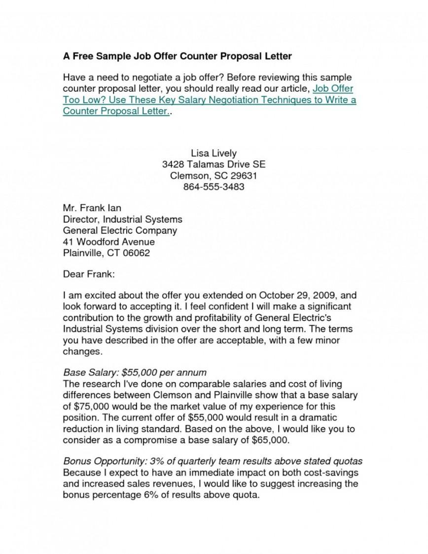 006 Impressive Counter Offer Letter Template Inspiration  Debt Settlement Job Severance