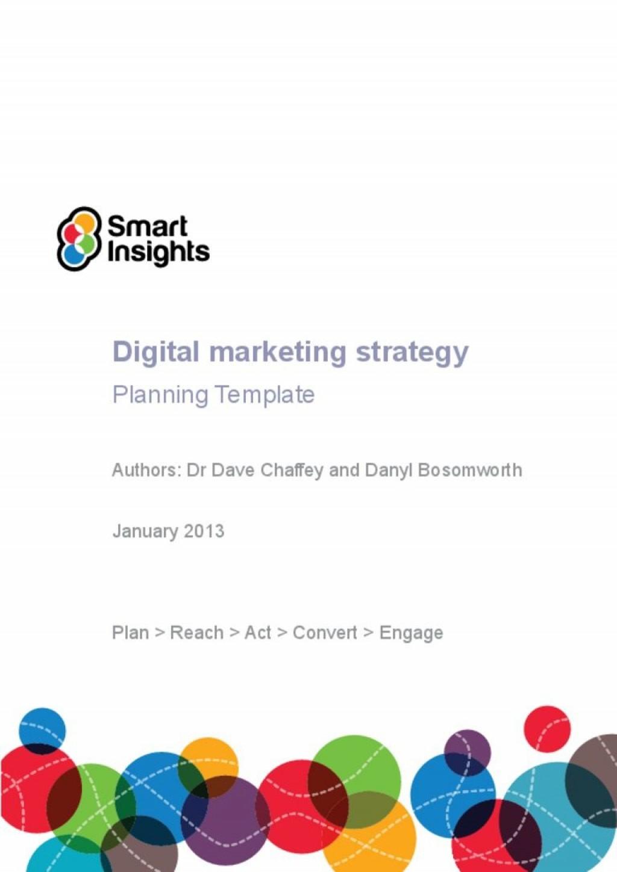 006 Impressive Digital Marketing Plan Example Doc  Template SampleLarge