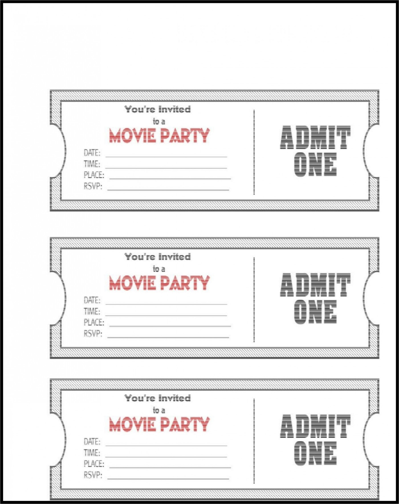 006 Impressive Editable Ticket Template Free High Definition  Concert Word Irctc Format Download Movie1400
