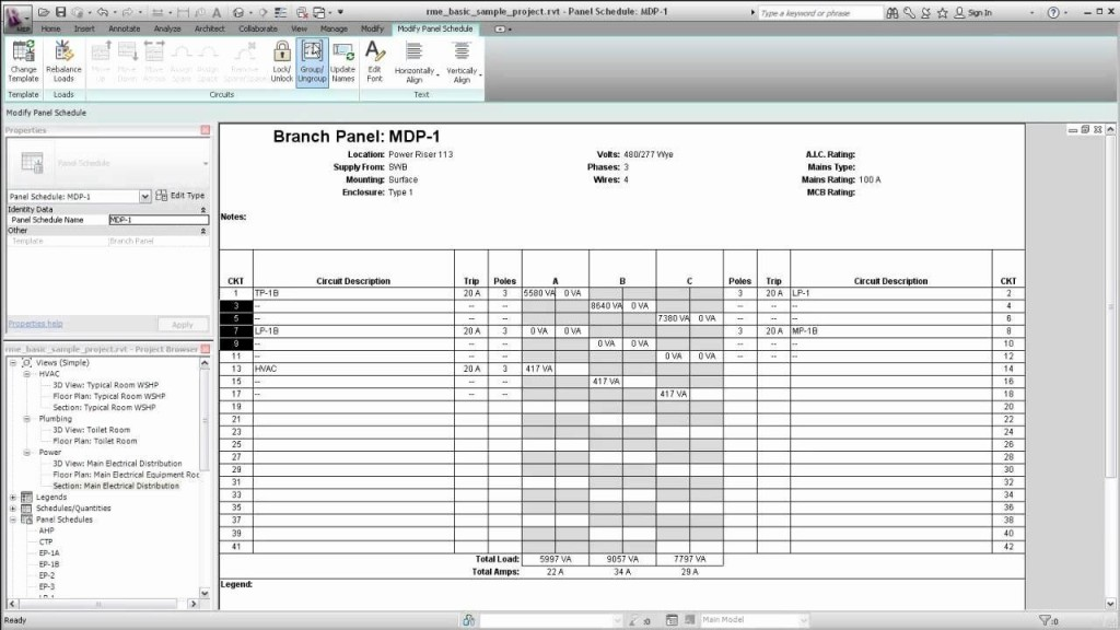 006 Impressive Electrical Panel Schedule Template Excel Picture  Load Single PhaseLarge