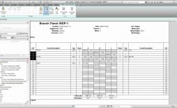 006 Impressive Electrical Panel Schedule Template Excel Picture  Load Single Phase