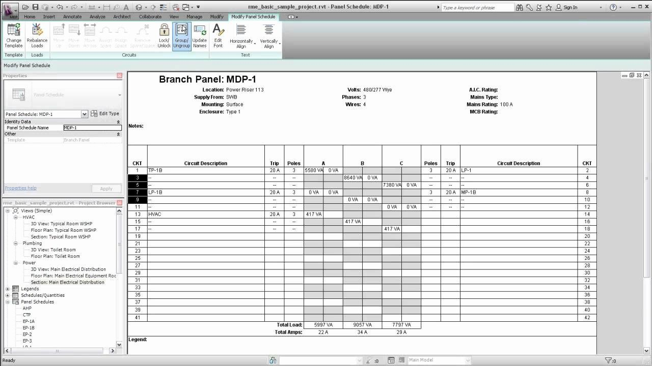 006 Impressive Electrical Panel Schedule Template Excel Picture  Load Single PhaseFull