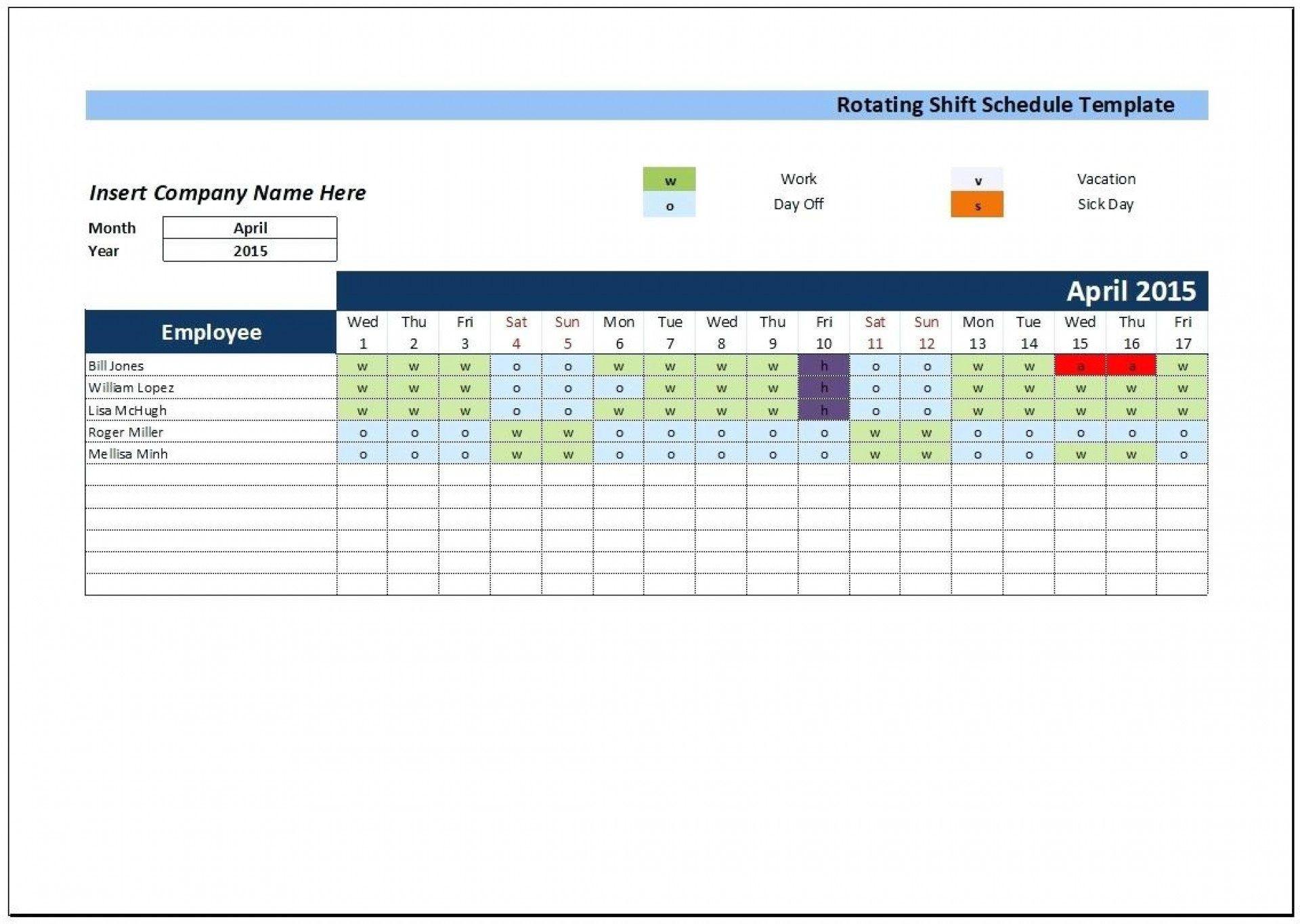 006 Impressive Excel 24 Hour Shift Schedule Template High Def 1920