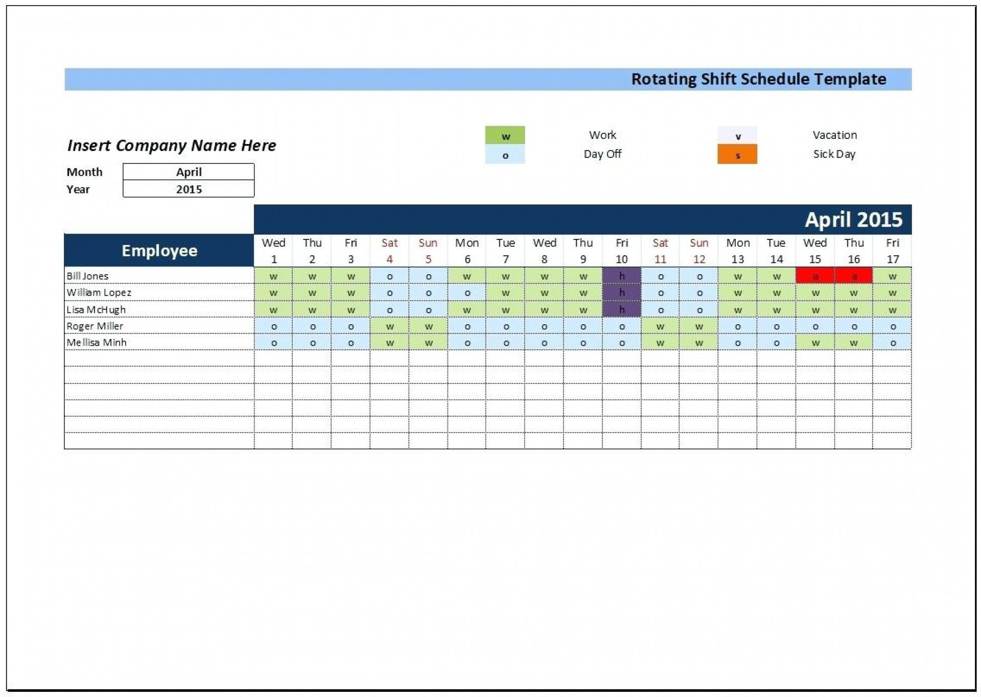 006 Impressive Excel 24 Hour Shift Schedule Template High Def Full