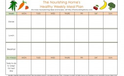 006 Impressive Family Meal Planner Template Picture  Word Menu