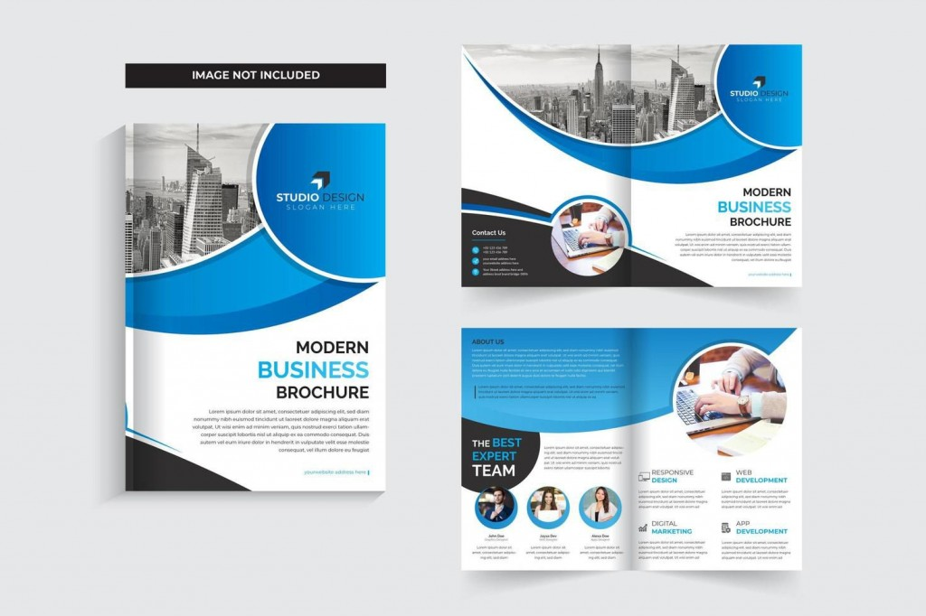 006 Impressive Free Brochure Template Download Idea  Psd Tri Fold For Word Corporate BusinesLarge