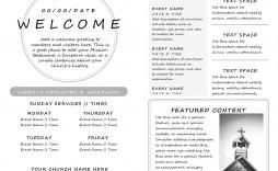 006 Impressive Free Church Program Template Download Image  Downloads Bulletin