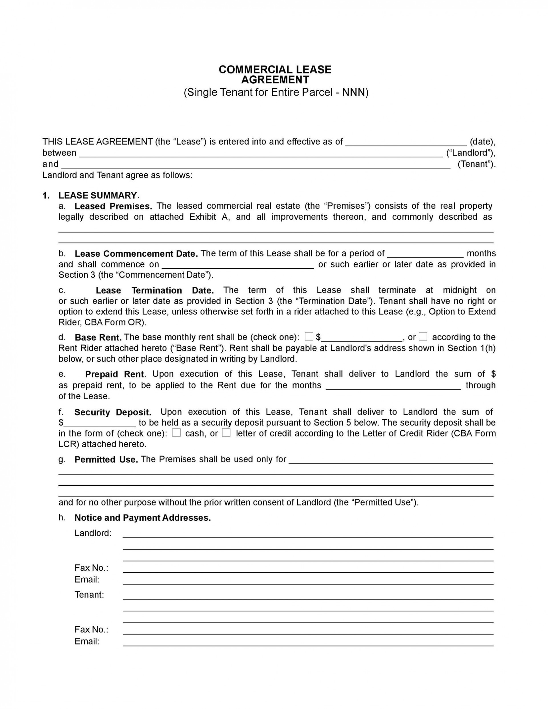 006 Impressive Free Commercial Lease Agreement Template Australia Inspiration  Queensland Download1920