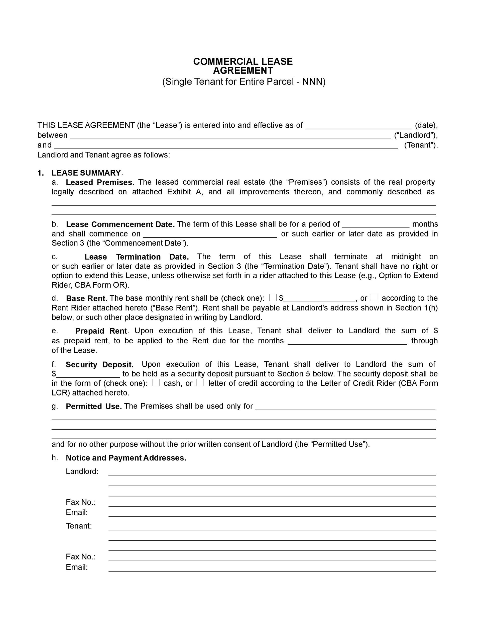 006 Impressive Free Commercial Lease Agreement Template Australia Inspiration  Queensland DownloadFull