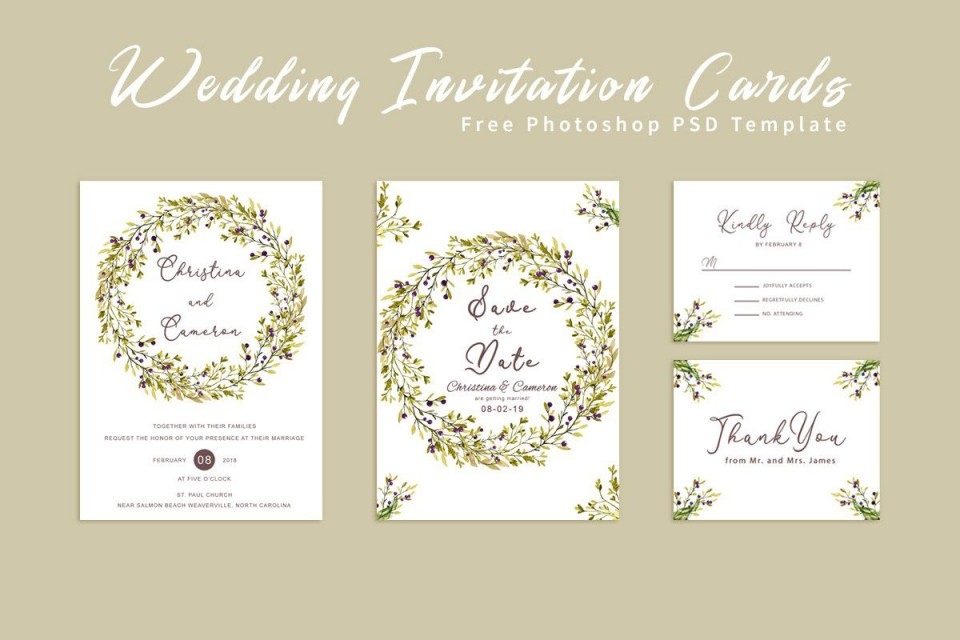 006 Impressive Free Download Invitation Card Template Psd Example  Indian Wedding960