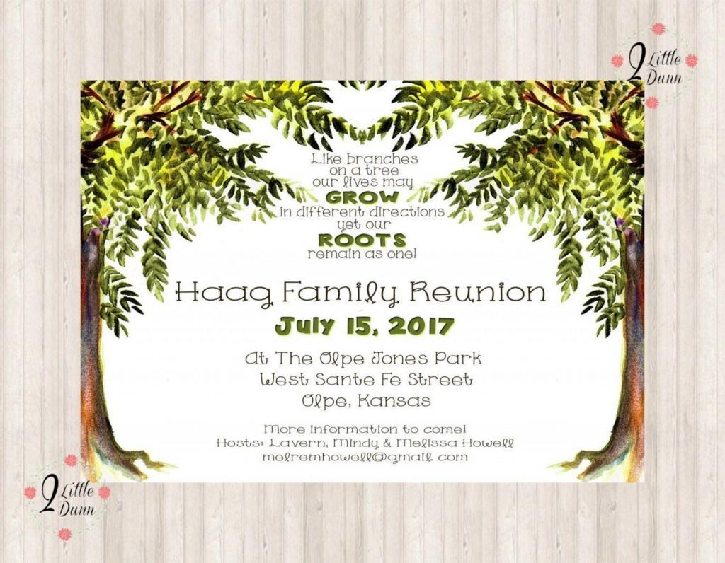 006 Impressive Free Family Reunion Flyer Template Word Idea Large