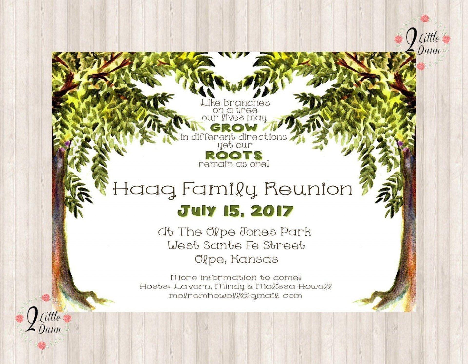 006 Impressive Free Family Reunion Flyer Template Word Idea 1920