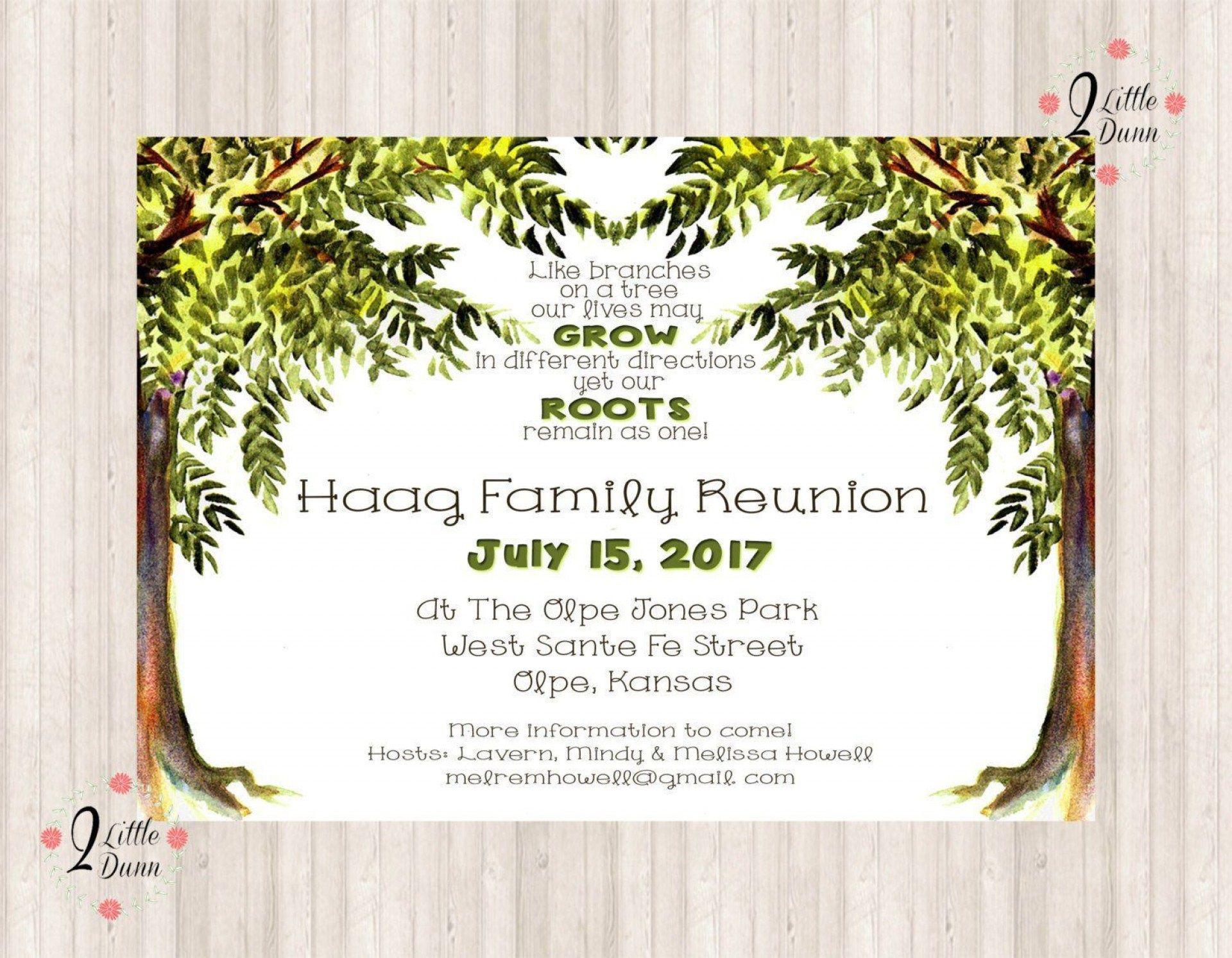 006 Impressive Free Family Reunion Flyer Template Word Idea Full