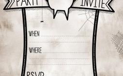 006 Impressive Free Halloween Invite Template Idea  Templates Party Invitation For Word