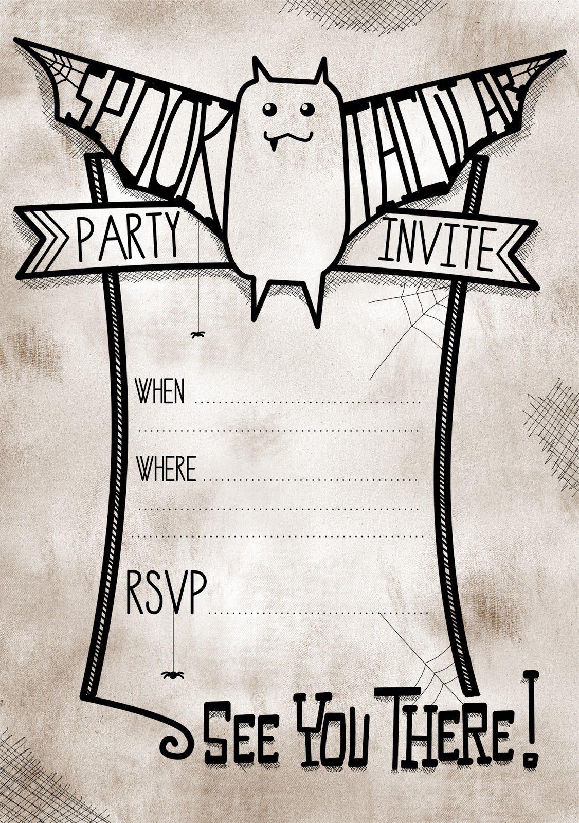 006 Impressive Free Halloween Invite Template Idea  Templates Party Invitation For WordFull