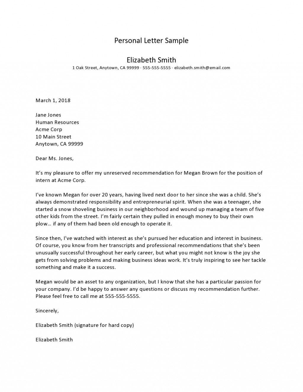 006 Impressive Free Letter Writing Template Download Sample Large