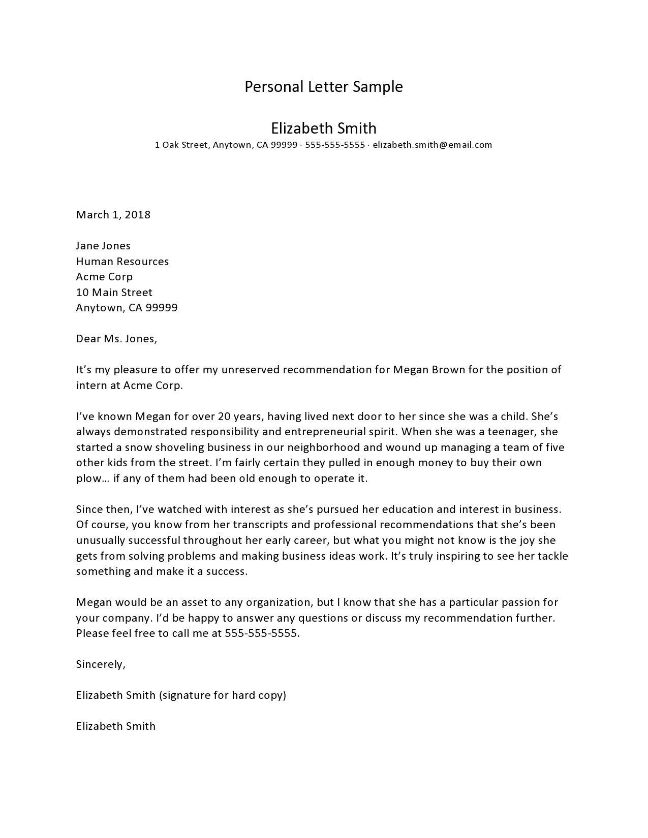 006 Impressive Free Letter Writing Template Download Sample Full