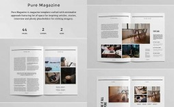 006 Impressive Free Magazine Article Layout Template For Word Design