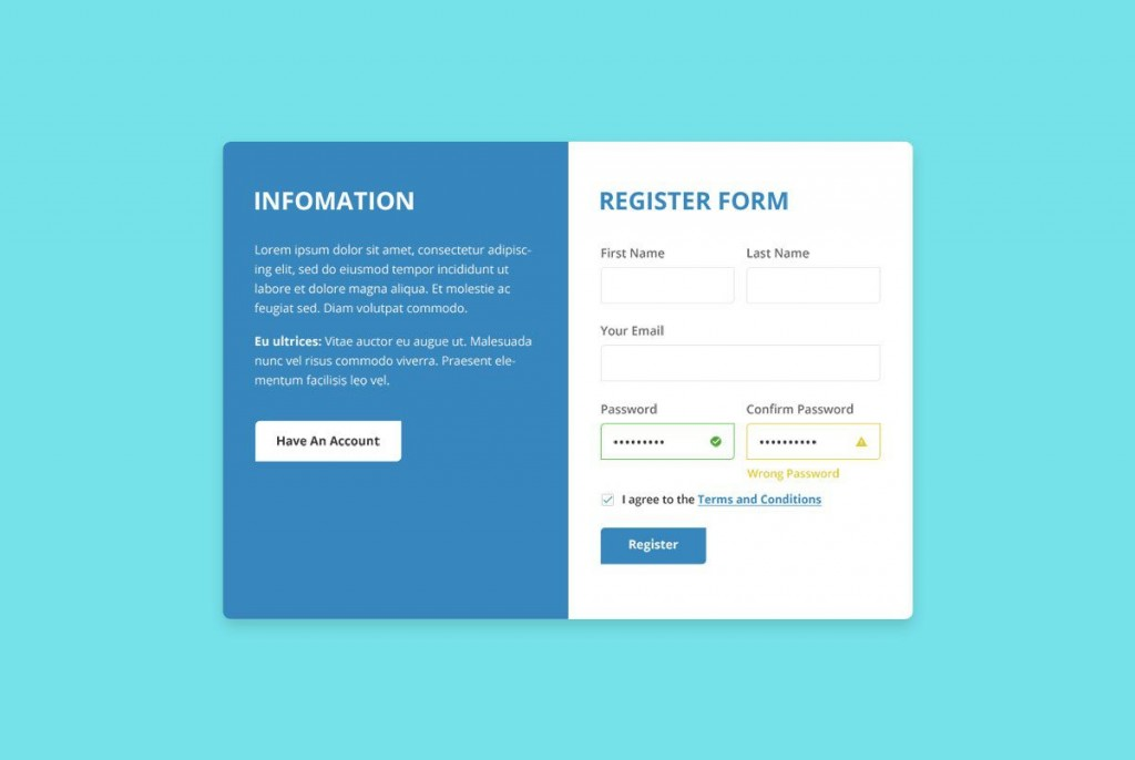 006 Impressive Free Registration Form Template High Resolution  Templates Responsive Bootstrap Download In Html Employee CsLarge