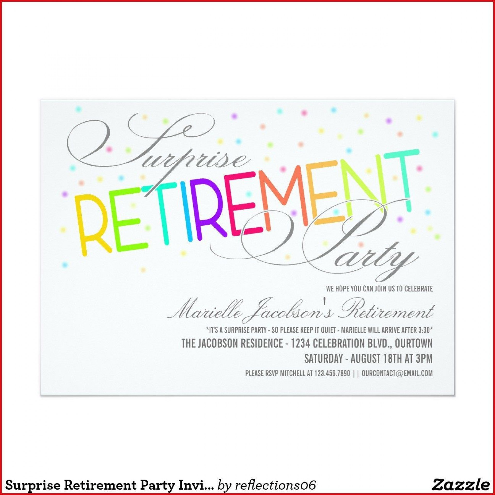 006 Impressive Free Retirement Reception Invitation Template Picture  Templates1920