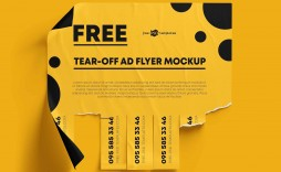 006 Impressive Free Tear Off Flyer Template Inspiration  Tear-off For Microsoft Word Printable With Tab