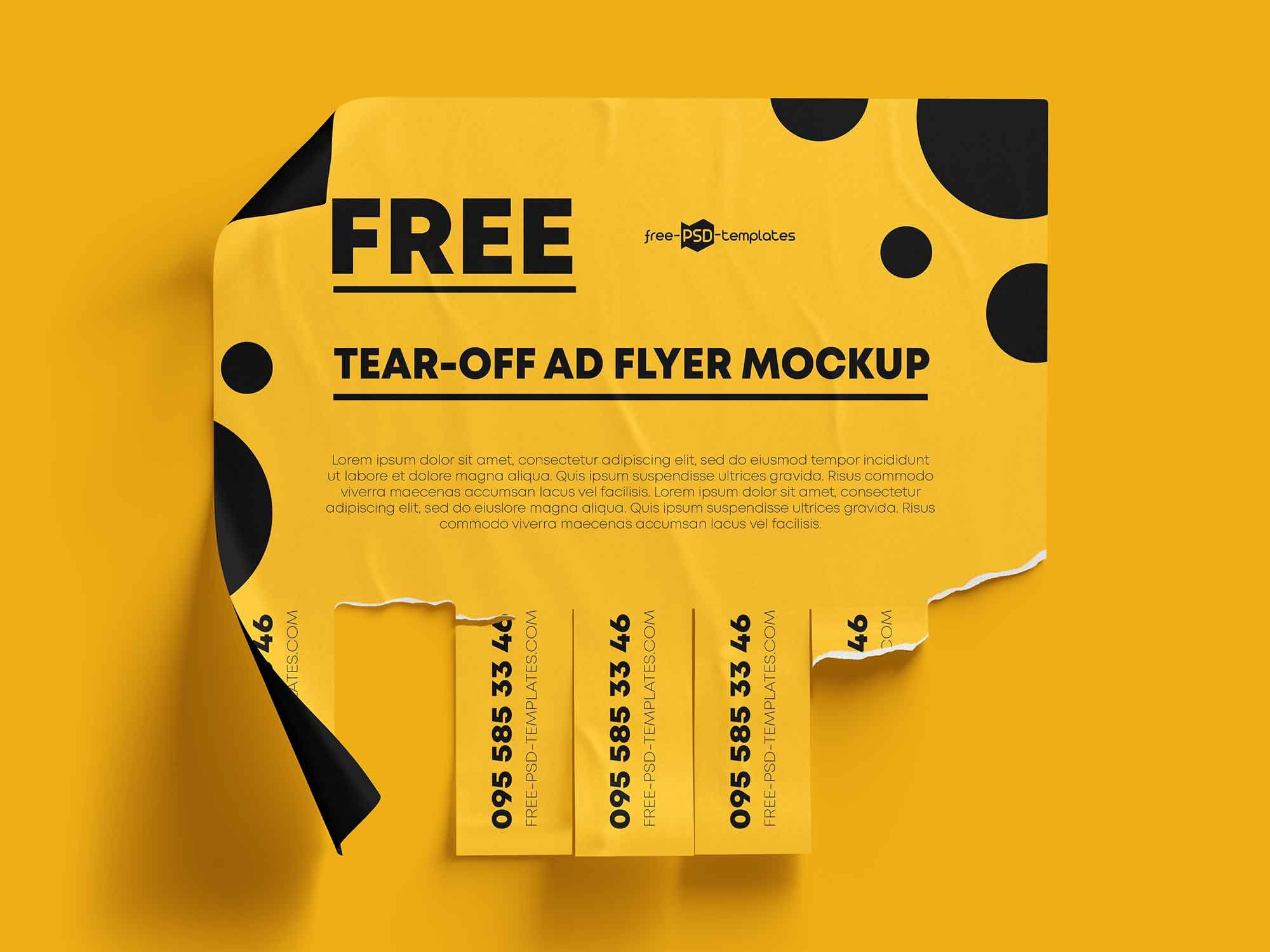 006 Impressive Free Tear Off Flyer Template Inspiration  Tear-off For Microsoft Word Printable With TabFull