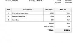 006 Impressive Generic Service Invoice Template Example