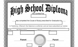 006 Impressive High School Diploma Template Def  With Seal Homeschool Free Printable Blank