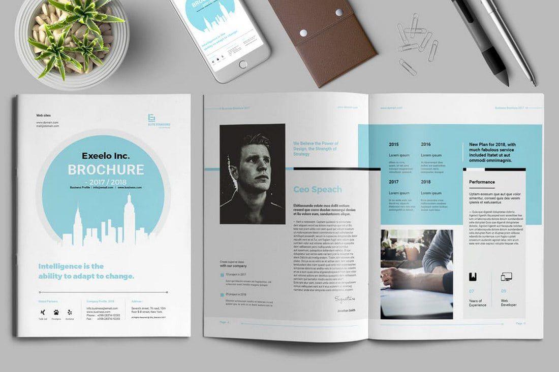 006 Impressive Indesign Brochure Template Free Image  Adobe Download Bi Fold BusinesFull