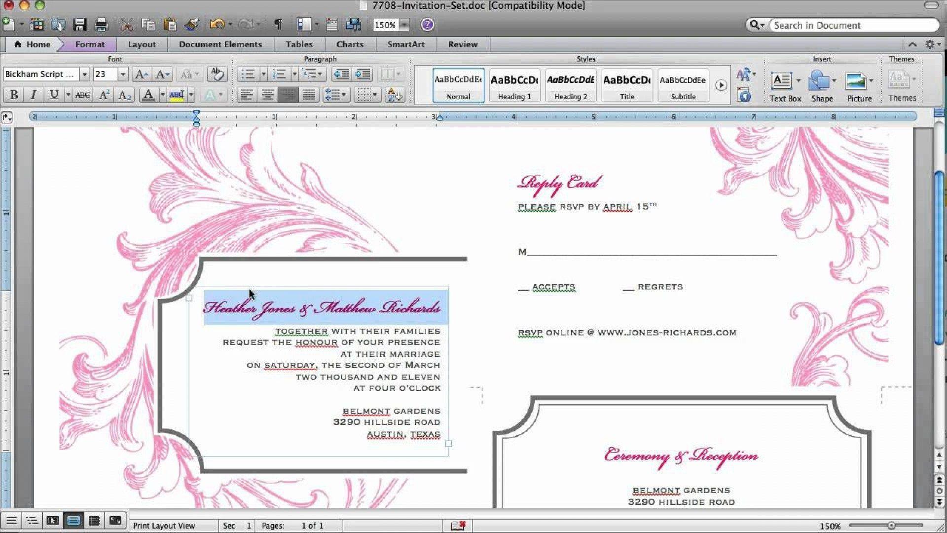 006 Impressive Microsoft Office Invitation Maker Photo Full