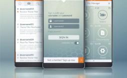006 Impressive Mobile App Design Template Idea  Size Free Download Ui Psd