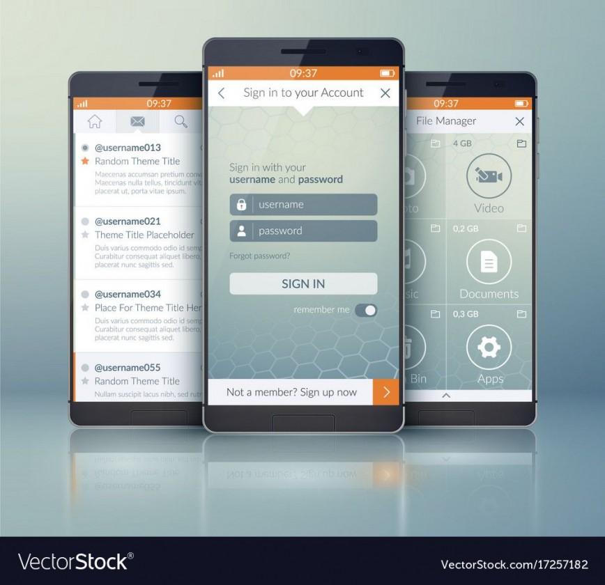 006 Impressive Mobile App Design Template Idea  Size Adobe Xd Ui Psd Free Download868