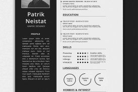 006 Impressive One Page Resume Template Concept  Word Free For Fresher Ppt Download Html