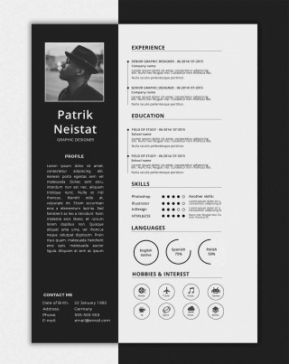 006 Impressive One Page Resume Template Concept  Word Free For Fresher Ppt Download Html320