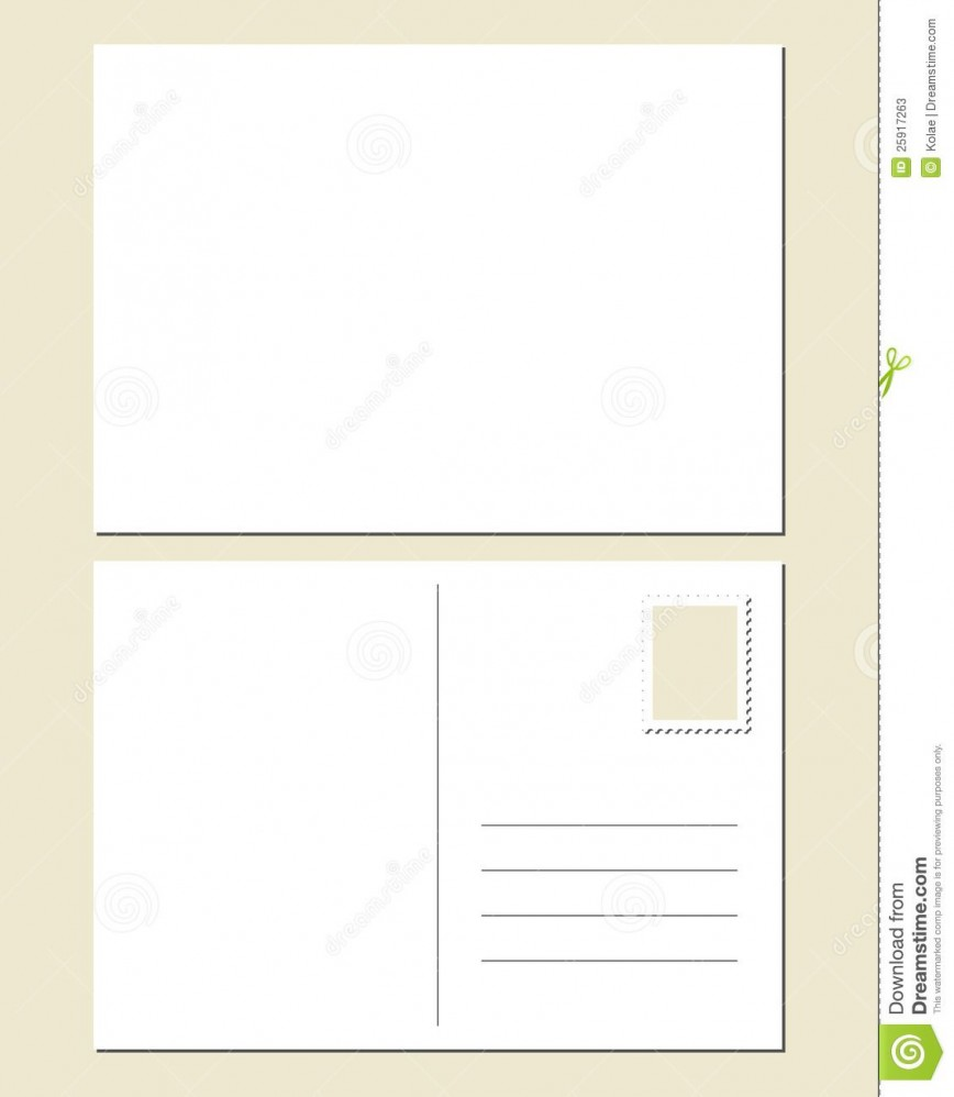 006 Impressive Postcard Template Front And Back Highest Quality  Word Free