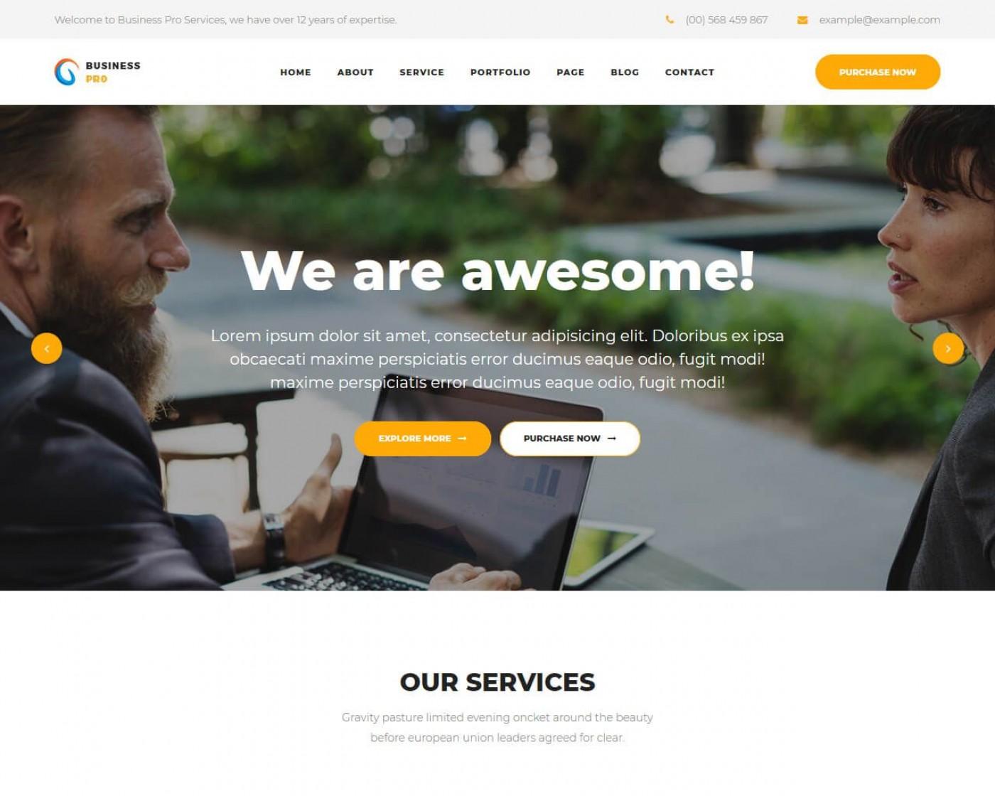 006 Impressive Professional Busines Website Template Free Download Wordpres Picture 1400
