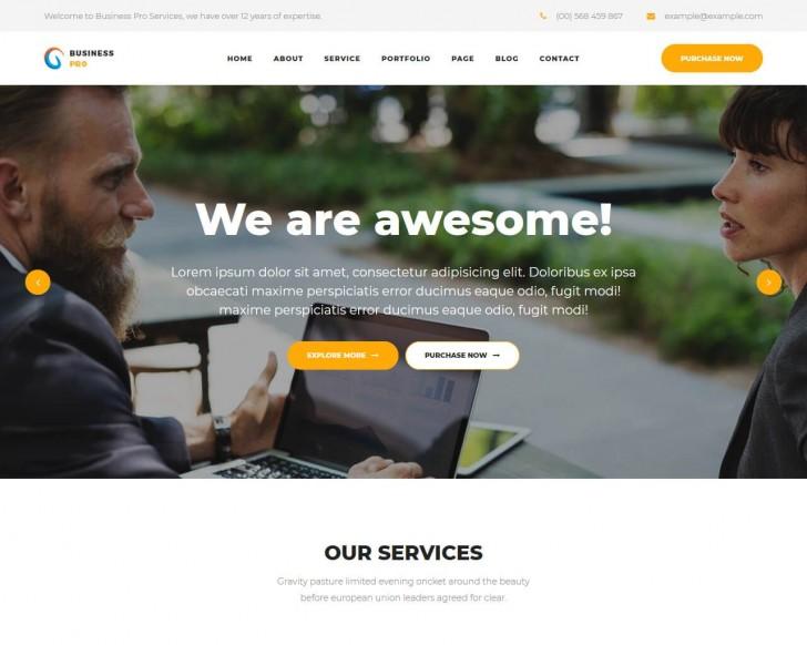 006 Impressive Professional Busines Website Template Free Download Wordpres Picture 728