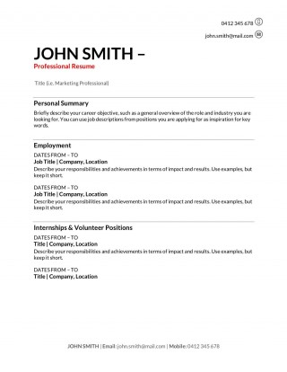 006 Impressive Resume Template For First Job High Def  After College Sample Student Teenager320