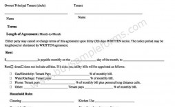 006 Impressive Sample House Rental Agreement Template Image  Contract Lease