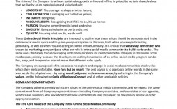006 Impressive Social Media Policy Template Highest Clarity  Templates Free