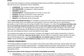 006 Impressive Social Media Policy Template Highest Clarity  Free