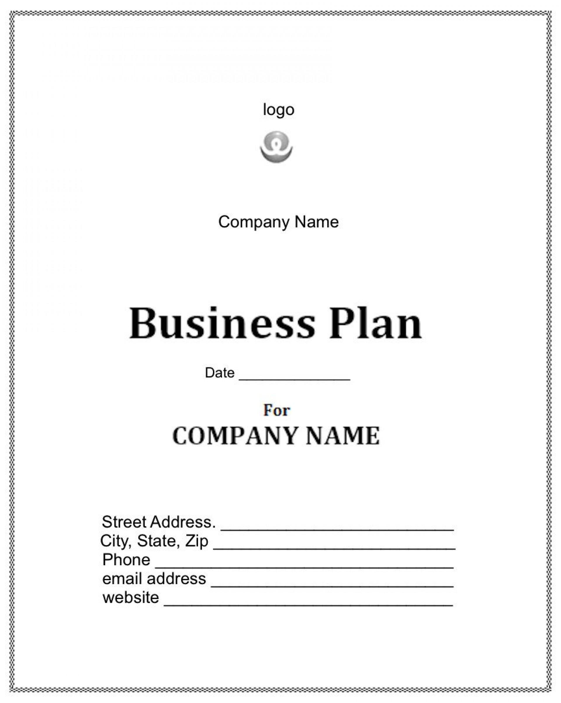 006 Impressive Startup Busines Plan Template Sample  Free Download Doc1920
