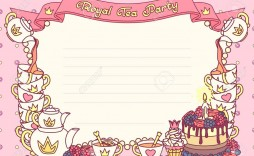 006 Impressive Tea Party Invitation Template Free Sample  Afternoon High Invite Download