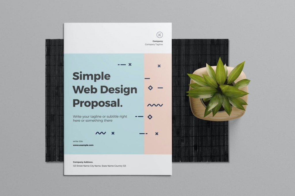 006 Impressive Web Design Proposal Template Indesign High Resolution Large