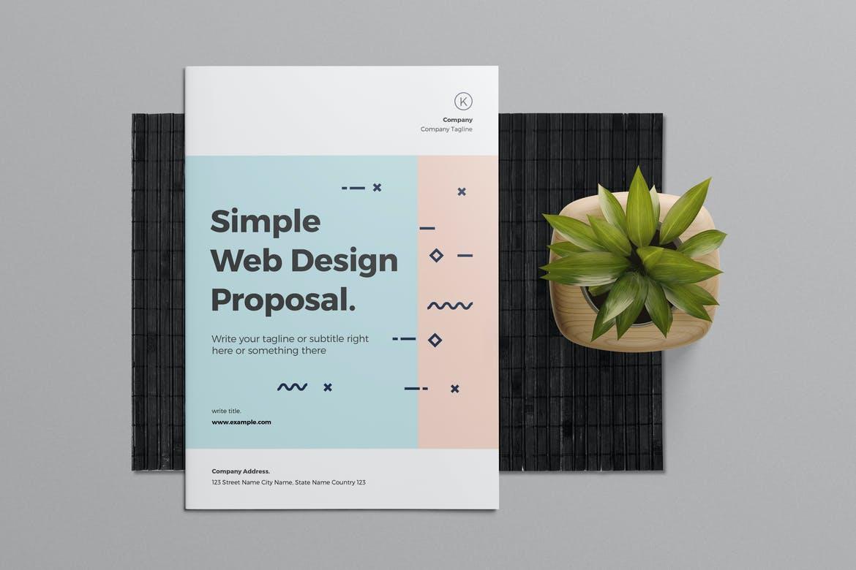 006 Impressive Web Design Proposal Template Indesign High Resolution Full