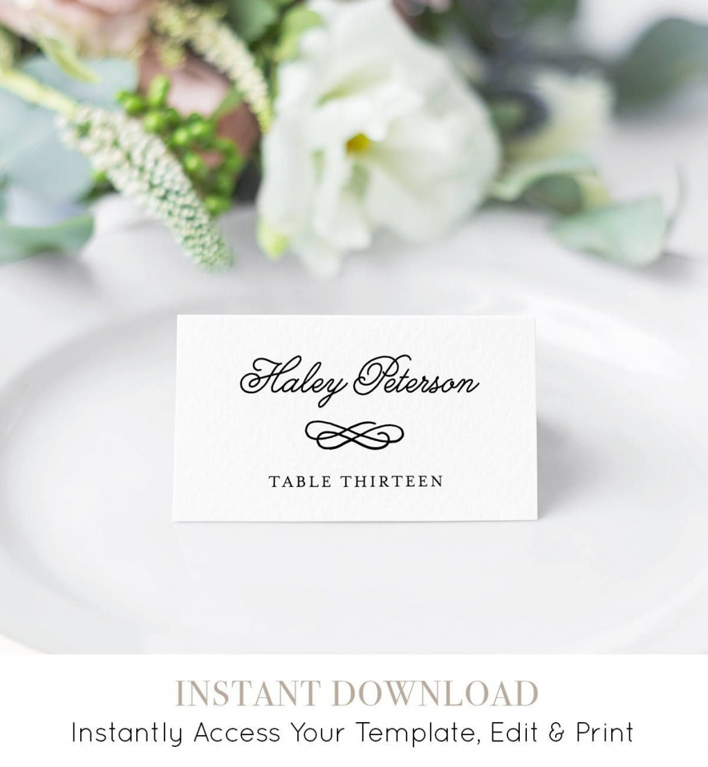 006 Impressive Wedding Name Card Template Example  Free Download Design Sticker FormatLarge