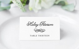 006 Impressive Wedding Name Card Template Example  Table Free Place Escort