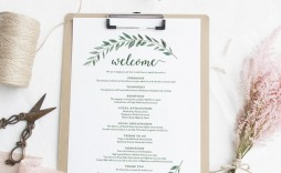 006 Impressive Wedding Welcome Letter Template Word Sample